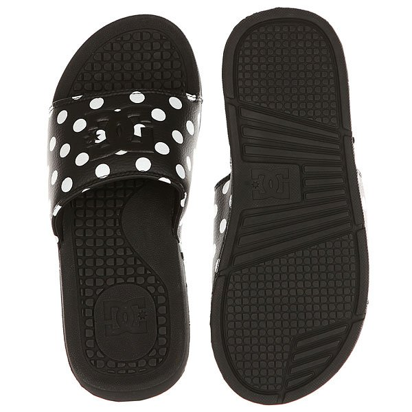 Шлепанцы женские DC Shoes Bolsa Se Black/White Print
