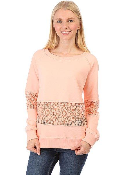 Толстовка классическая женская Emblem Cut Sweatshirt Peach