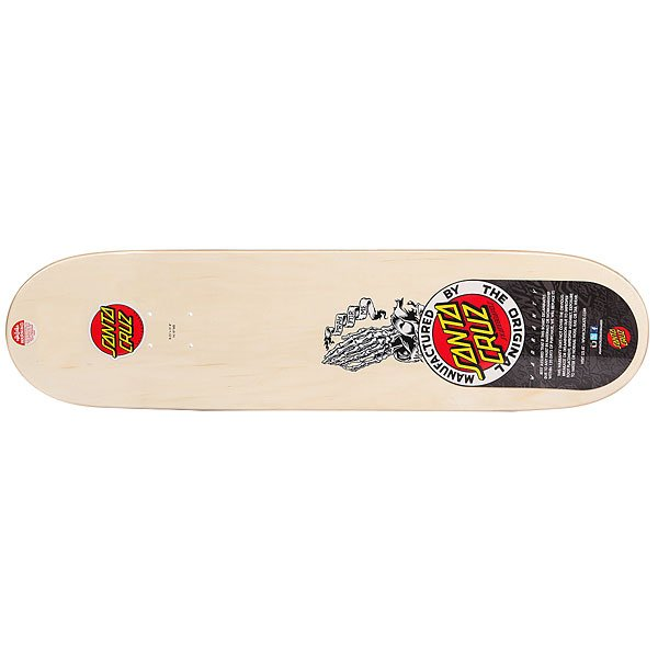 Дека для скейтборда Santa Cruz Jessee Bone Guadalupe Pro Black/White/Beige 31.8 x 8.25 (21 см)