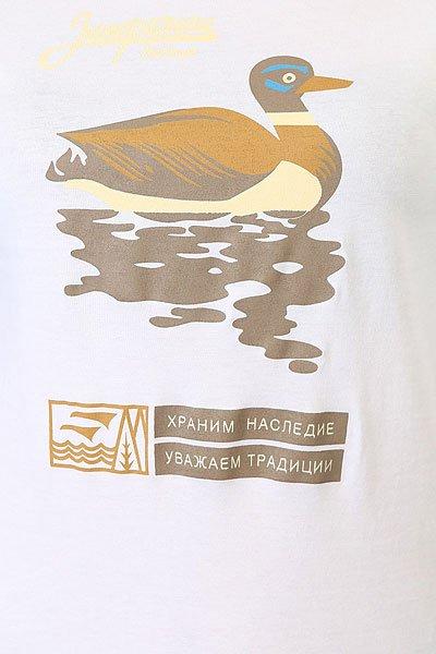 Лонгслив женский Запорожец Утка Белый/Голубой