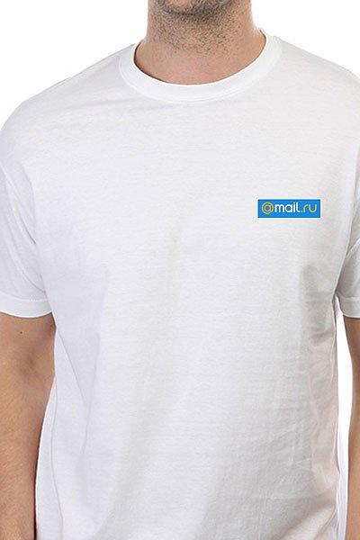 Футболка классическая Mail.Ru Logo Blue Белая