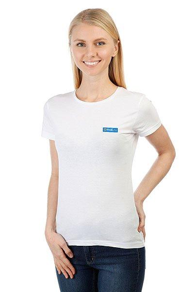 Футболка женская классическая Mail.Ru Logo Blue Белая