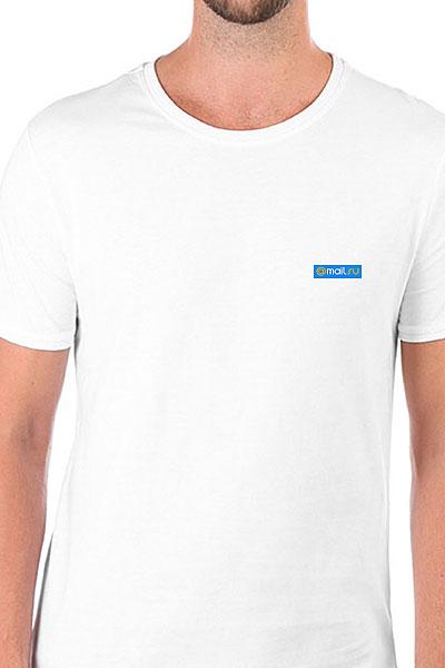 Футболка Wearcraft Premium Slim Fit Mail.Ru Logo Blue Белая