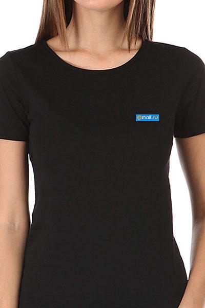 Футболка женская Wearcraft Premium Mail.Ru Women Logo Blue Черная