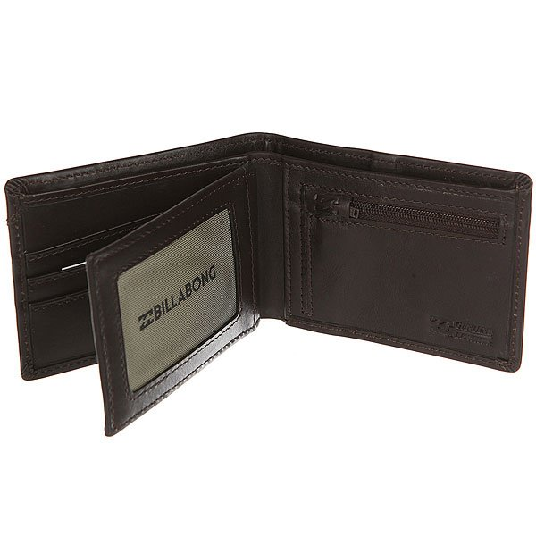 Кошелек Billabong Split Leather Wallet Chocolate