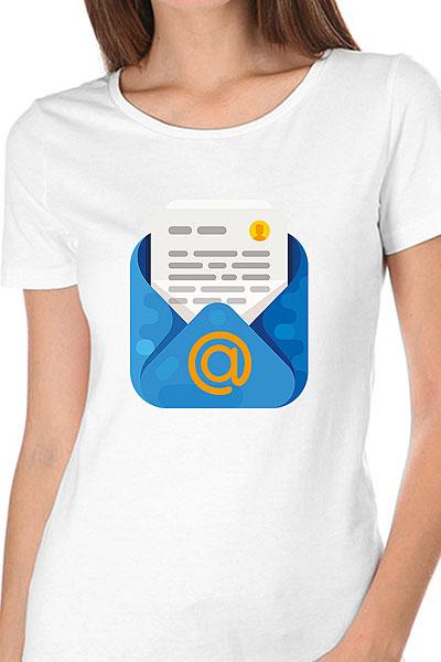 Футболка женская Wearcraft Premium Mail.ru Mail Белая
