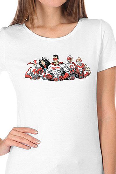 Футболка женская Wearcraft Premium My.com Five Белая
