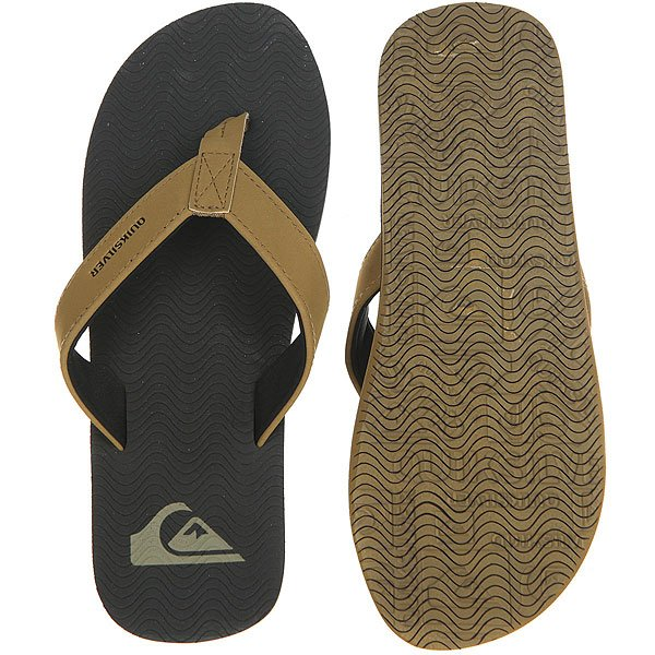 Вьетнамки Quiksilver Molokai Laser Brown/Real Black