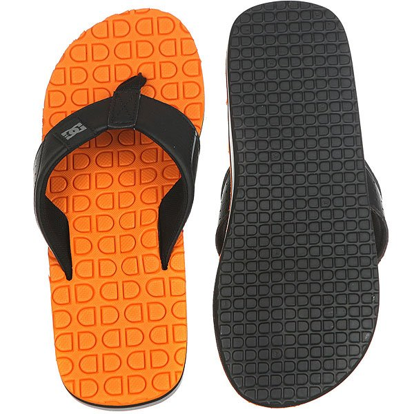 Вьетнамки DC Kush Black/Orange