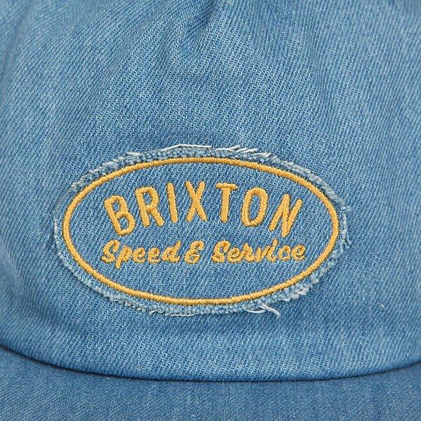 Бейсболка с прямым козырьком Brixton Mags Hp Snapback Light Denim
