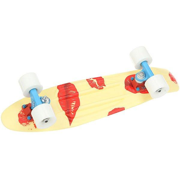 Скейт мини круизер Пластборды Pixel 1 Yellow/Red 6 x 22.5 (57 см)