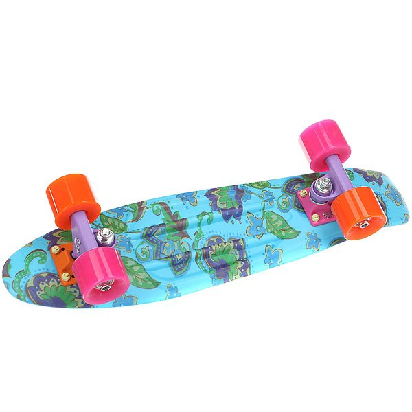 Скейт мини круизер Пластборды Drop 1 Light Blue/Multi 6 x 22.5 (57 см)