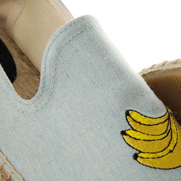 Эспадрильи Soludos Banana Embr Smoking Slipper Chambray