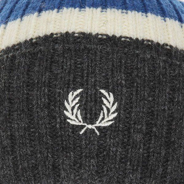 Шапка Fred Perry Bomber Tipped Beanie Grey/Blue