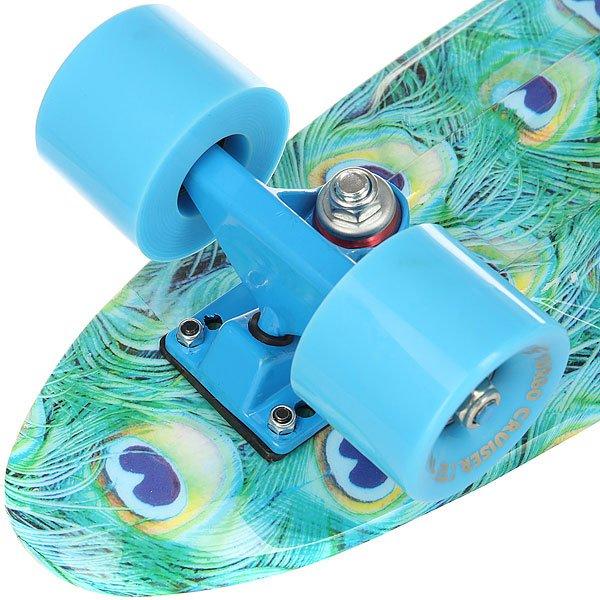 Скейт мини круизер Turbo-Fb Peacock Light Blue 6 x 22 (56 см)