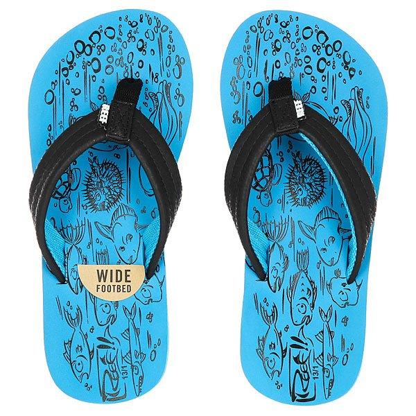 Вьетнамки детские Reef Grom Reef Footprints Blue