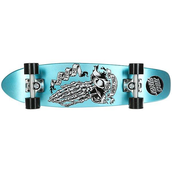 Скейт мини круизер Santa Cruz Pfm Skeleton Jammer Cruzer Blue 7.4 x 29.1 (73.6 см)