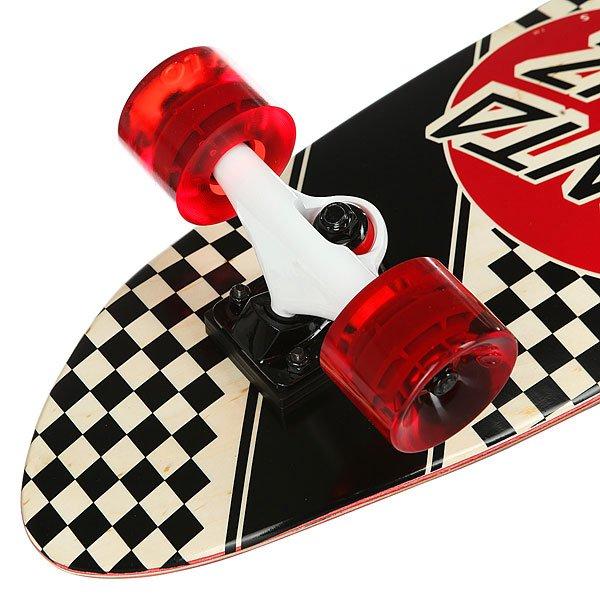 Скейт мини круизер Santa Cruz Check Stripe Jammer Cruzer Black/Red 7.4 x 29.1 (73.6 см)