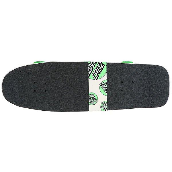 Скейт круизер Santa Cruz Multi Dot 80s Cruzer Beige/Green 9.99 x 32.3 (81.2 см)