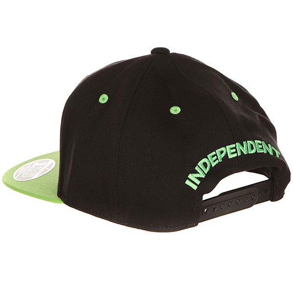Бейсболка с прямым козырьком Independent One Ten Snapback Black/Green