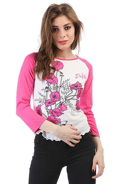 Купить Топ женский Dakine Poppy Raglan Real Pink 1180271