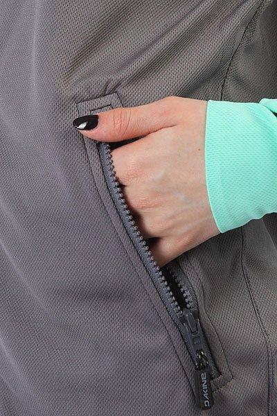 Толстовка кенгуру женская Dakine Freedom Front Zip Hoodie Grey