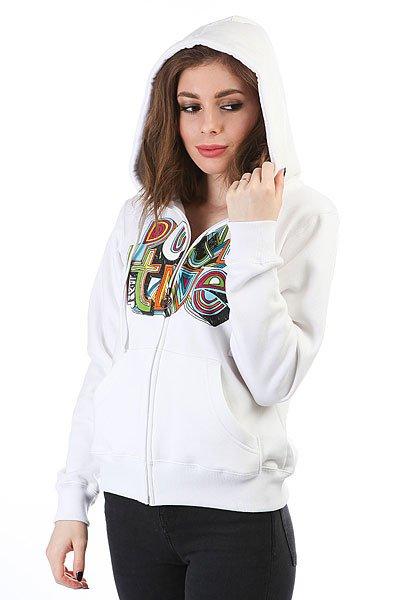 Толстовка кенгуру женская Dakine Girls Positive Hoodie White