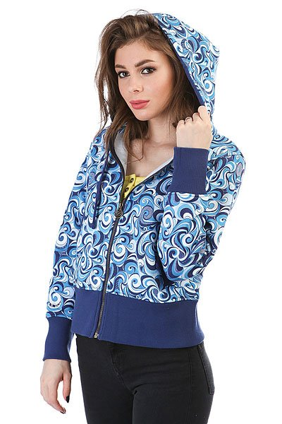 Толстовка кенгуру женская Dakine Girls Print Hoodie Blue