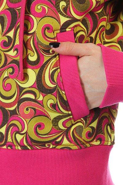 Толстовка кенгуру женская Dakine Girls Print Hoodie Pink