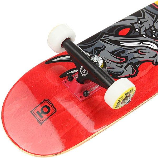 Скейтборд в сборе детский Юнион Dragon 1 Orange/Red/Multi 28 x 7 (18 см)