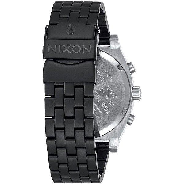 Кварцевые часы Nixon Time Teller Chrono Black/Steel