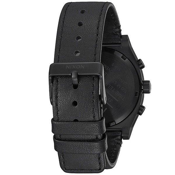 Кварцевые часы Nixon Time Teller Chrono Leather Black/White