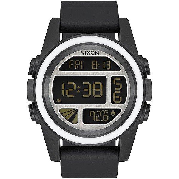 Электронные часы Nixon Unit Black/White/Silver