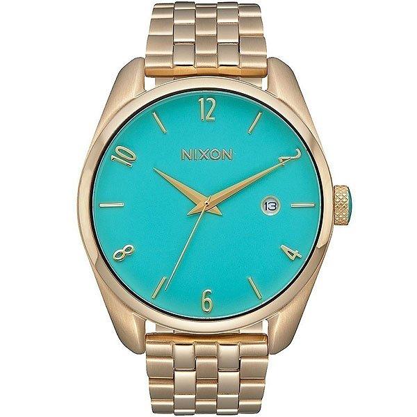 Кварцевые часы Nixon Bullet Gold/Turquoise