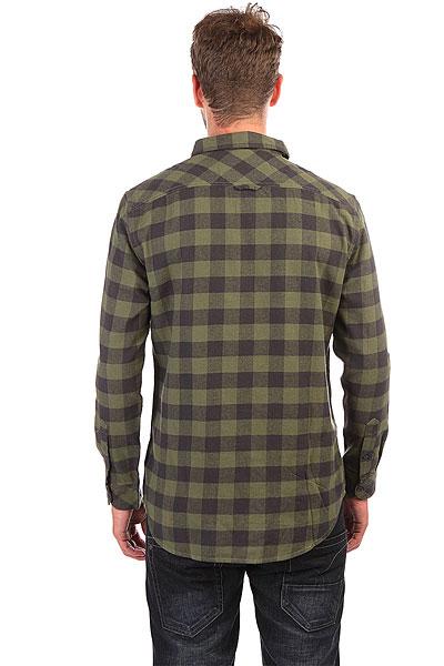 Рубашка в клетку Quiksilver Motherflyfla Riffle Green