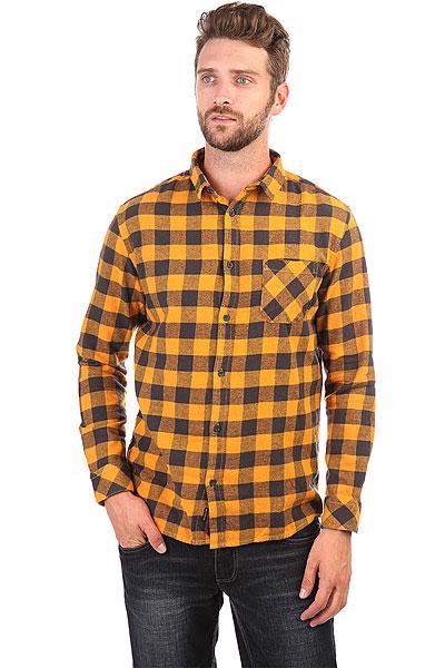 Рубашка в клетку Quiksilver Motherflyfla Golden Oak