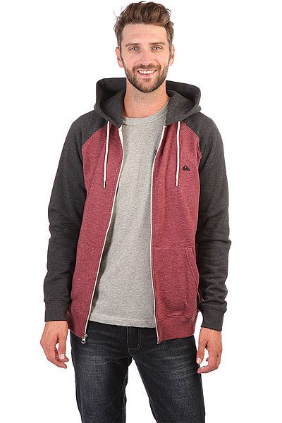 Толстовка кенгуру Quiksilver Everydayzip Pomegranate