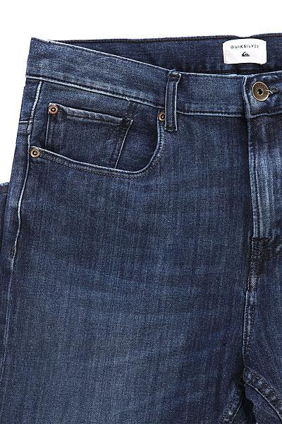 Джинсы узкие Quiksilver Lowbridgeminblu Pant Mineral Blue
