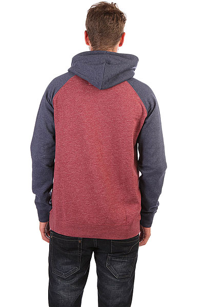 Толстовка кенгуру Quiksilver Everyday Hood Pomegranate Heather