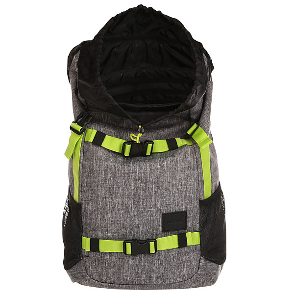 Рюкзак туристический Nixon Landlock Backpack Heather Gray/Lime