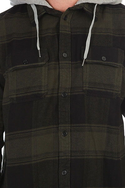 Рубашка в клетку DC Runnel Dark Olive