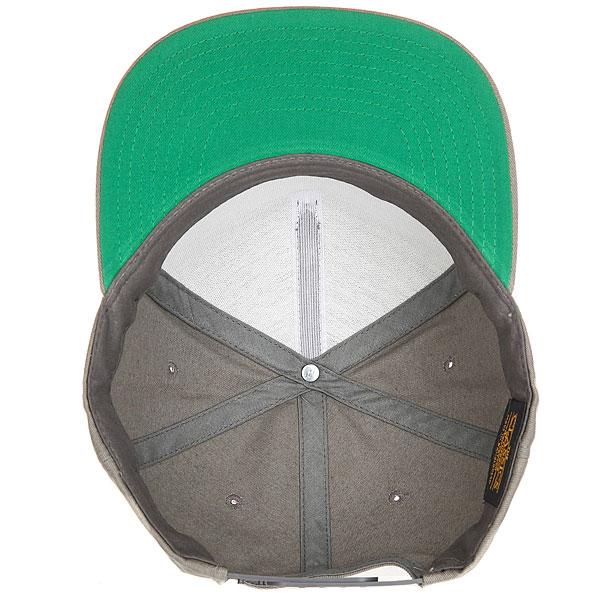 Бейсболка с прямым козырьком Transfer Classic Snapback 5 Panel Grey