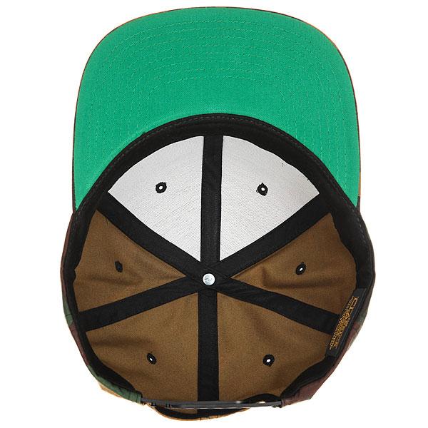 Бейсболка с прямым козырьком Transfer Classic Snapback 6 Panel Green/Camo