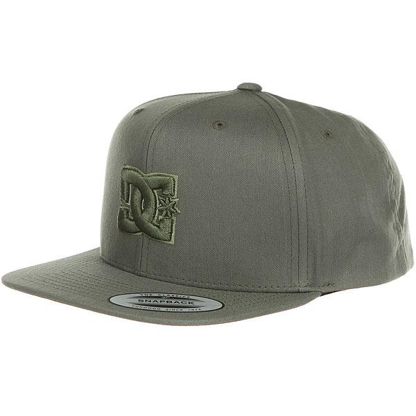 Бейсболка с прямым козырьком DC Snappy Hats Fatigue Green