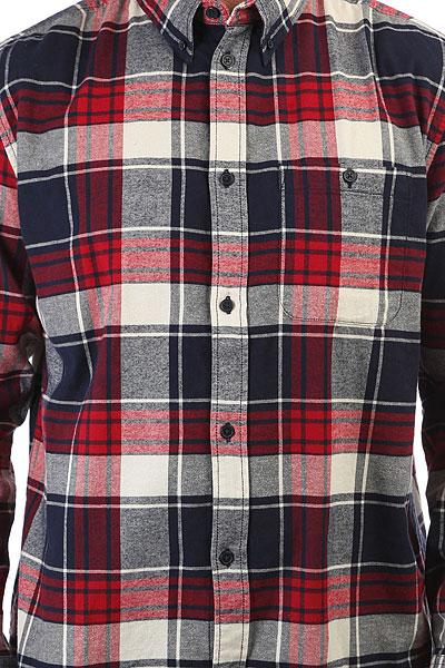 Рубашка в клетку DC South Ferry Ls Rio Red