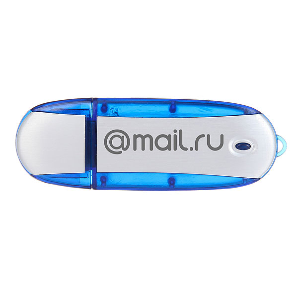 USB-Флешка Mail.Ru Ergonomic 8 Gb Logo Синяя