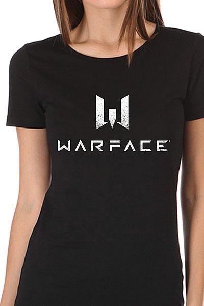 Футболка женская Wearcraft Premium Warface Logo Черная