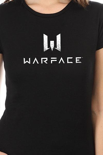Футболка женская классическая Warface Logo Черная