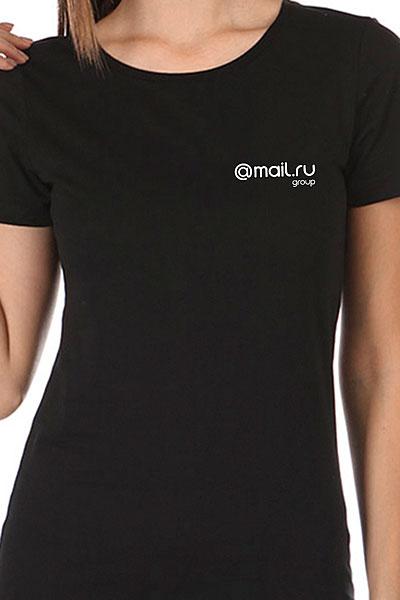 Футболка женская Wearcraft Premium Mail.Ru Logo Черная