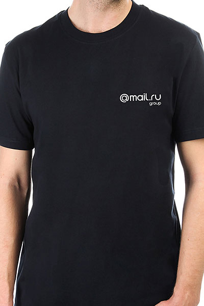 Футболка классическая Mail.Ru Logo Черная